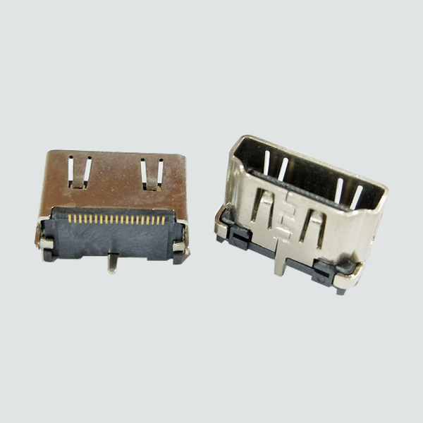 HDMI A type  19P Female  straight 10.5mm SMT-01