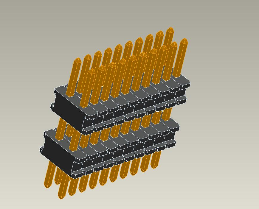 0.8mm pin header dual row plastic straight type