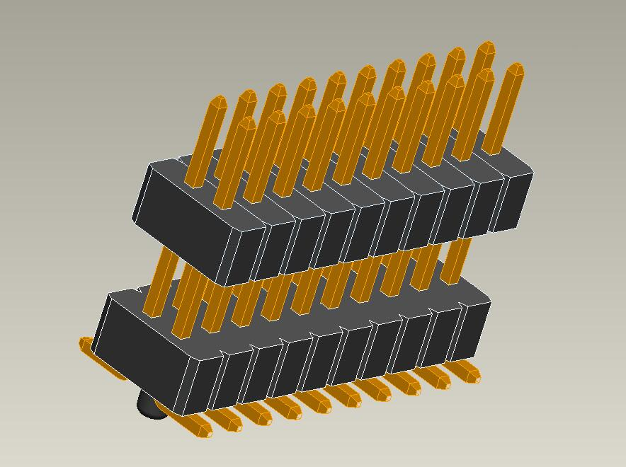 1.0mm pin header dual row SMT type dual plastic