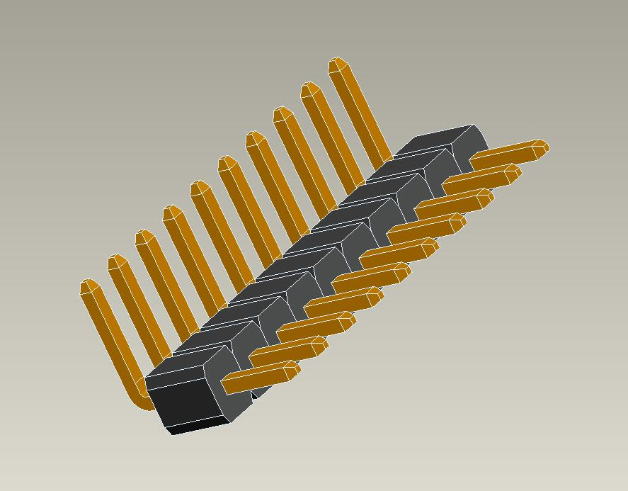 1.0mm pin header single row right angle type