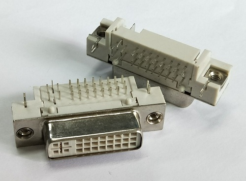 DVI 24+5 Female Right Angle Type(Stamed PIN)