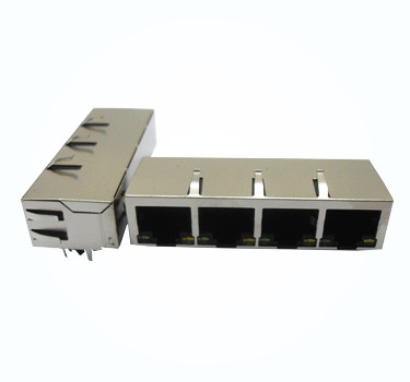 RJ45 JACK 1X1 LED WITH TRANSFORMER Model